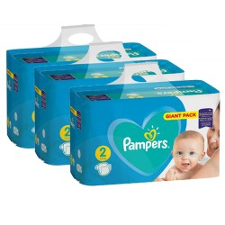 Maxi giga pack 376 Couches Pampers Active Baby Dry taille 2 sur Tooly