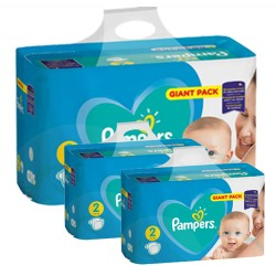 Maxi mega pack 470 Couches Pampers Active Baby Dry taille 2 sur Tooly