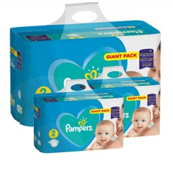 Pack jumeaux 846 Couches Pampers Active Baby Dry taille 2 sur Tooly