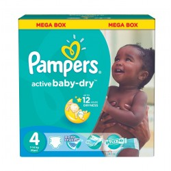 Pack jumeaux 840 Couches Pampers Active Baby Dry taille 4 sur Tooly