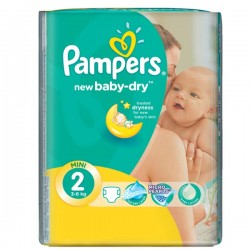 Mega pack 144 Couches Pampers New Baby Dry taille 2 sur Tooly