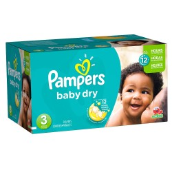 Pack jumeaux 580 Couches Pampers Baby Dry taille 3 sur Tooly
