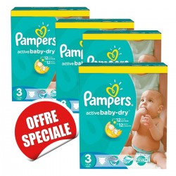 Mega pack 165 Couches Pampers Active Baby Dry taille 3 sur Tooly
