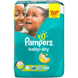 Pack 84 Couches Pampers Baby Dry taille 5+ sur Tooly