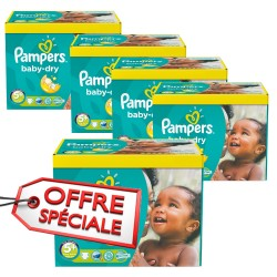 Pack jumeaux 588 Couches Pampers Baby Dry taille 5+ sur Tooly