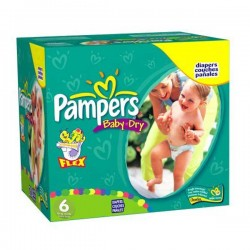 Mega pack 192 Couches Pampers Baby Dry taille 6 sur Tooly