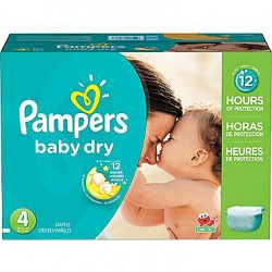 Pack 75 Couches Pampers Baby Dry taille 4 sur Tooly