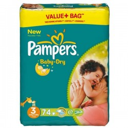 Pack 30 Couches Pampers Baby Dry taille 3 sur Tooly