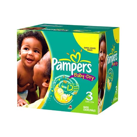 Maxi giga pack 390 Couches Pampers Baby Dry taille 3 sur Tooly