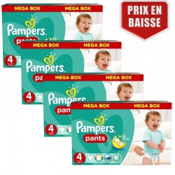 Mega pack 164 Couches Pampers Baby Dry Pants taille 4 sur Tooly