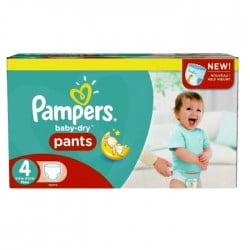 Maxi giga pack 328 Couches Pampers Baby Dry Pants taille 4 sur Tooly