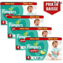 Pack jumeaux 656 Couches Pampers Baby Dry Pants taille 4 sur Tooly