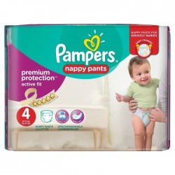 Mega pack 160 Couches Pampers Active Fit Pants taille 4 sur Tooly