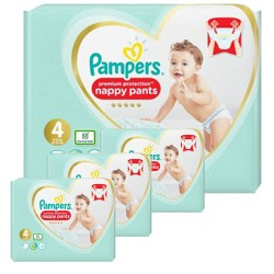 Maxi giga pack 329 Couches Pampers Premium Protection Pants taille 4 sur Tooly