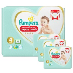 Maxi mega pack 470 Couches Pampers Premium Protection Pants taille 4 sur Tooly