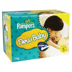 Giga pack 220 Couches Pampers Premium Protection taille 1 sur Tooly