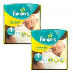 Giga pack 242 Couches Pampers Premium Protection taille 1 sur Tooly