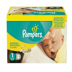 Giga pack 264 Couches Pampers Premium Protection taille 1 sur Tooly