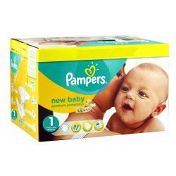 Giga pack 286 Couches Pampers Premium Protection taille 1 sur Tooly