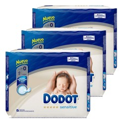 Mega pack 144 Couches Dodot Protection Plus Sensitive taille 0 sur Tooly