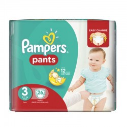 Pack 19 Couches Pampers Baby Dry Pants taille 3 sur Tooly