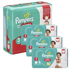 Pack 76 Couches Pampers Baby Dry Pants taille 3 sur Tooly