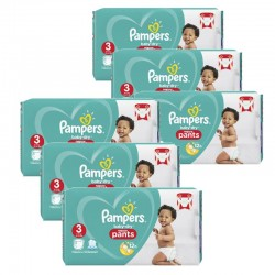 Giga pack 266 Couches Pampers Baby Dry Pants taille 3 sur Tooly