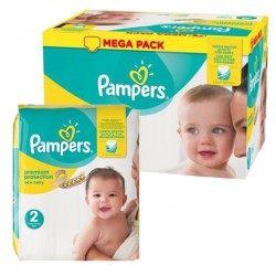 Mega pack 104 Couches Pampers Premium Protection taille 2 sur Tooly