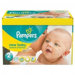 Mega pack 156 Couches Pampers Premium Protection taille 2 sur Tooly