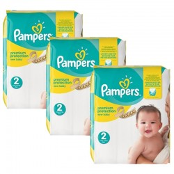 Giga pack 208 Couches Pampers Premium Protection taille 2 sur Tooly