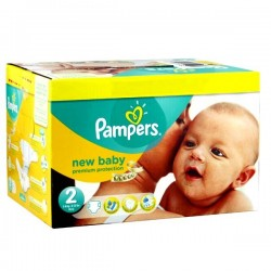 Maxi giga pack 364 Couches Pampers Premium Protection taille 2 sur Tooly