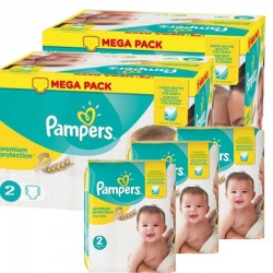 Maxi mega pack 468 Couches Pampers Premium Protection taille 2 sur Tooly