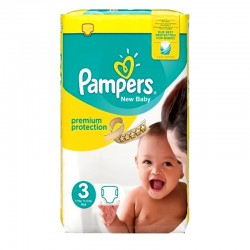 Pack 29 Couches Pampers Premium Protection taille 3 sur Tooly