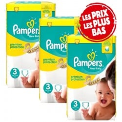 Pack 58 Couches Pampers Premium Protection taille 3 sur Tooly