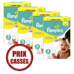 Mega pack 145 Couches Pampers Premium Protection taille 3 sur Tooly