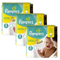Giga pack 261 Couches Pampers Premium Protection taille 3 sur Tooly