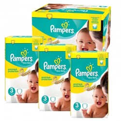 Giga pack 290 Couches Pampers Premium Protection taille 3 sur Tooly