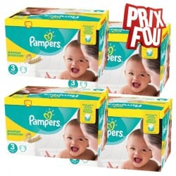 Maxi mega pack 406 Couches Pampers Premium Protection taille 3