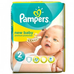 Pack 52 Couches Pampers Premium Protection taille 2 sur Tooly