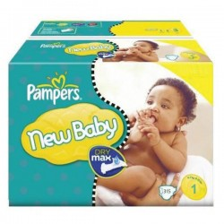 Mega pack 112 Couches Pampers Premium Protection taille 1 sur Tooly