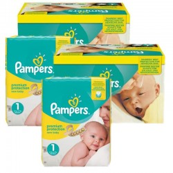 Mega pack 168 Couches Pampers Premium Protection taille 1 sur Tooly