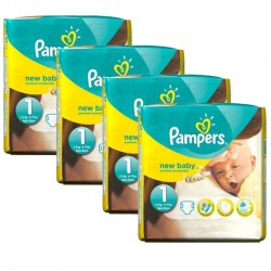 Maxi mega pack 448 Couches Pampers Premium Protection taille 1 sur Tooly