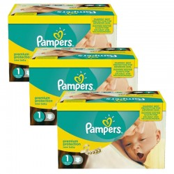 Pack jumeaux 560 Couches Pampers Premium Protection taille 1 sur Tooly
