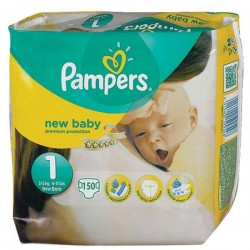 Pack jumeaux 728 Couches Pampers Premium Protection taille 1 sur Tooly