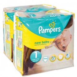 Pack jumeaux 840 Couches Pampers Premium Protection taille 1 sur Tooly