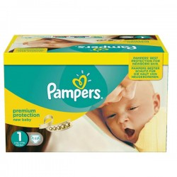 Pack jumeaux 896 Couches Pampers Premium Protection taille 1 sur Tooly