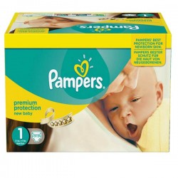 Pack jumeaux 952 Couches Pampers Premium Protection taille 1 sur Tooly