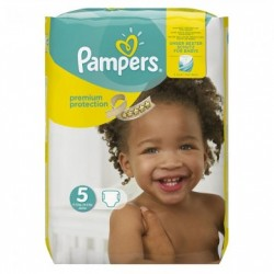 Pack 68 Couches Pampers Premium Protection taille 5 sur Tooly