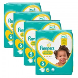 Giga pack 204 Couches Pampers Premium Protection taille 5 sur Tooly