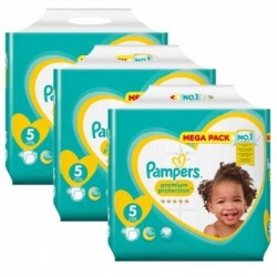 Pack jumeaux 612 Couches Pampers Premium Protection taille 5 sur Tooly